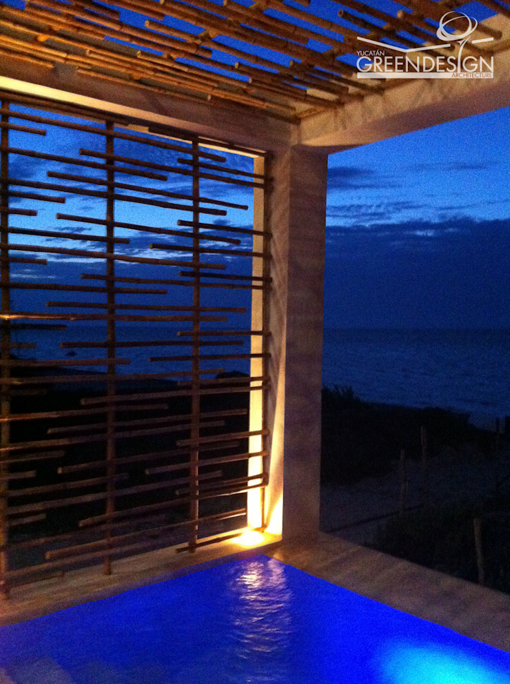 Piscinas de estilo tropical de Yucatan Green Design Tropical