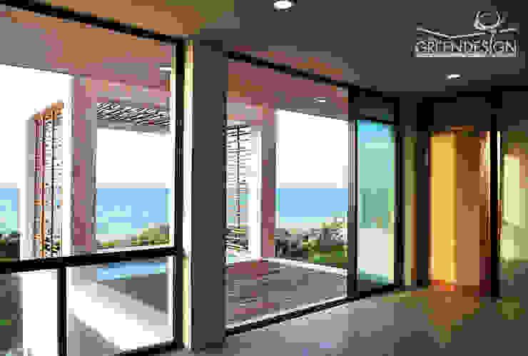 Salas de estilo tropical de Yucatan Green Design Tropical