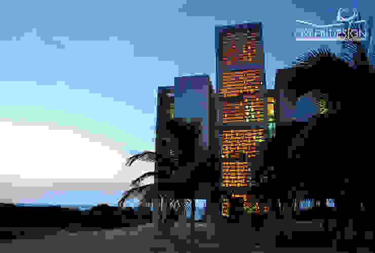 Casas de estilo tropical de Yucatan Green Design Tropical