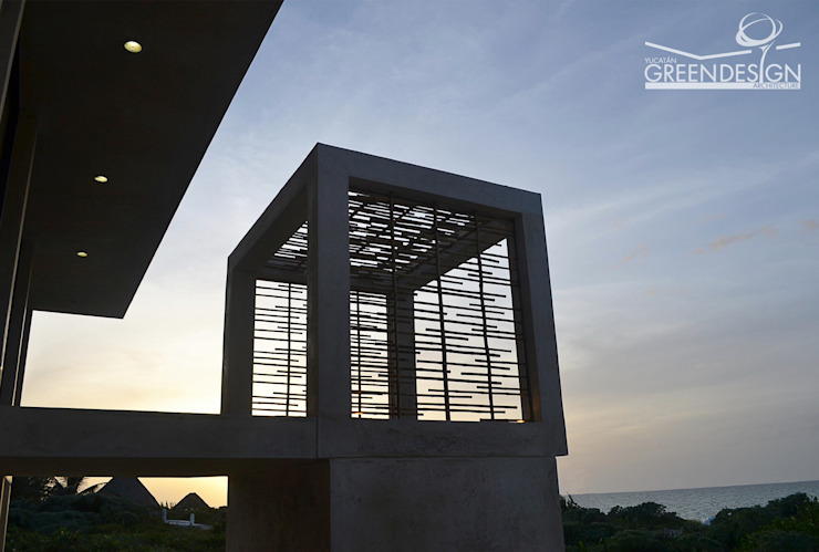 Balcones y terrazas de estilo tropical de Yucatan Green Design Tropical