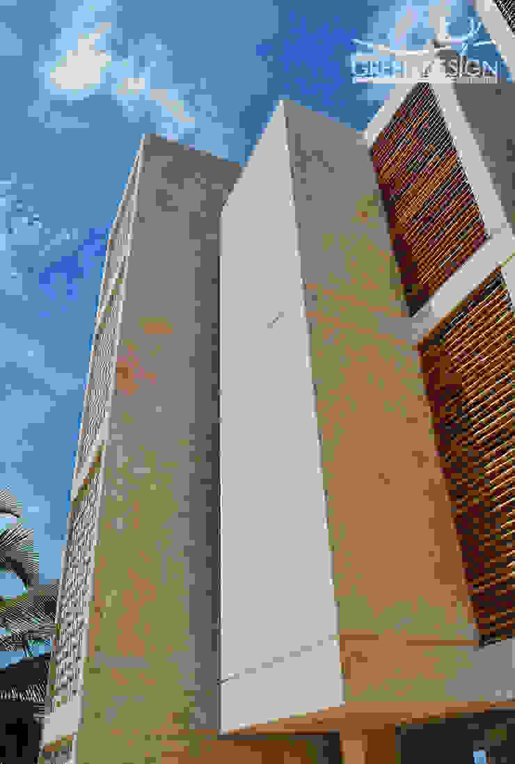 Paredes y pisos de estilo tropical de Yucatan Green Design Tropical