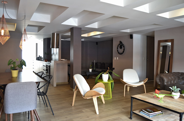 APARTAMENTO 97: Salas de estilo  por santiago dussan architecture & Interior design,