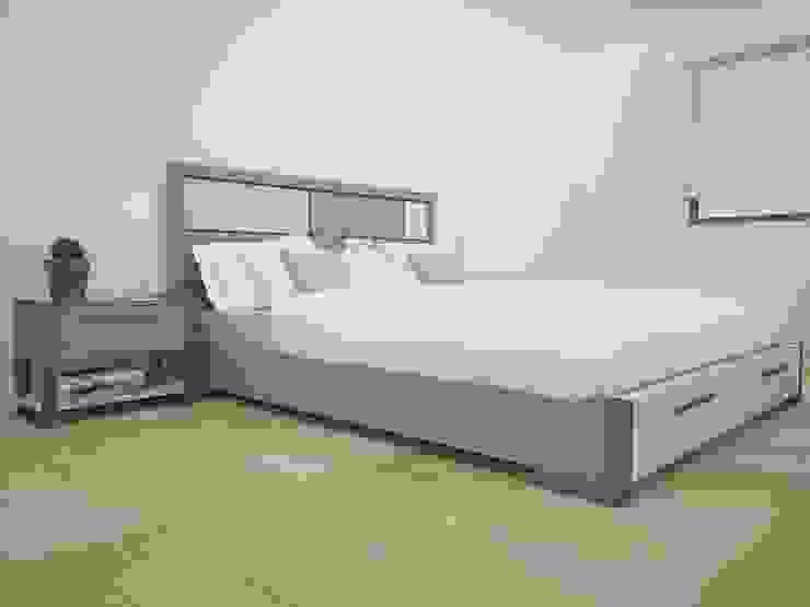 Propuesta enchapado Olmo y Fresno Dormitorios modernos de Teorema Arquitectura Moderno