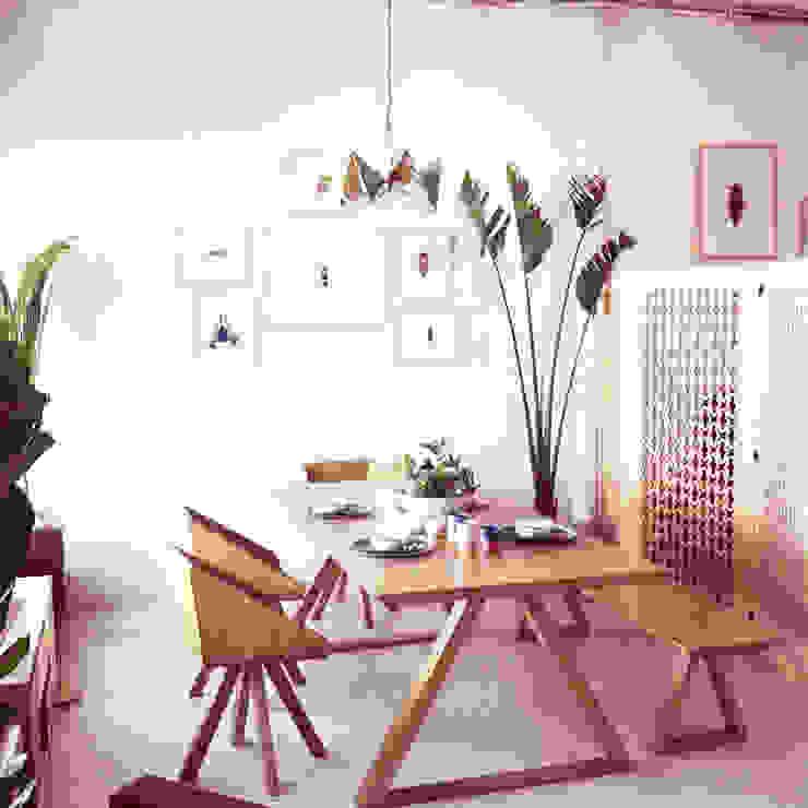 COMEDOR Clorofilia Comedores de estilo tropical Contrachapado Acabado en madera