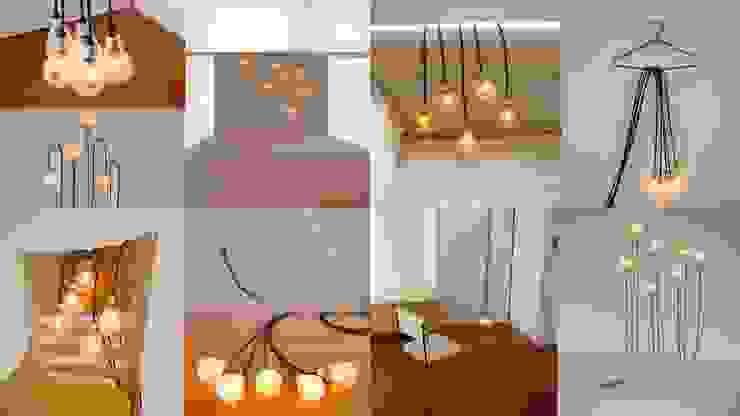 照明プロダクト「5b-e ふぅっと幸福の5つの電球たち」: アッシュ・ペー・フランス株式会社が手掛けた現代のです。,モダン