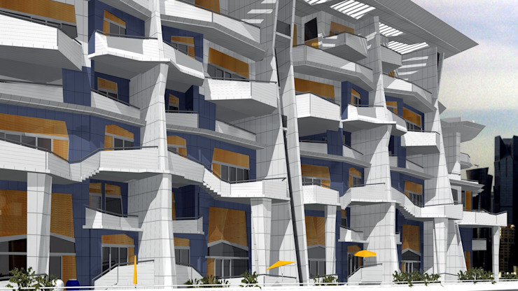 Дома в стиле модерн от organic Arts+Architecture Модерн Алюминий / Цинк