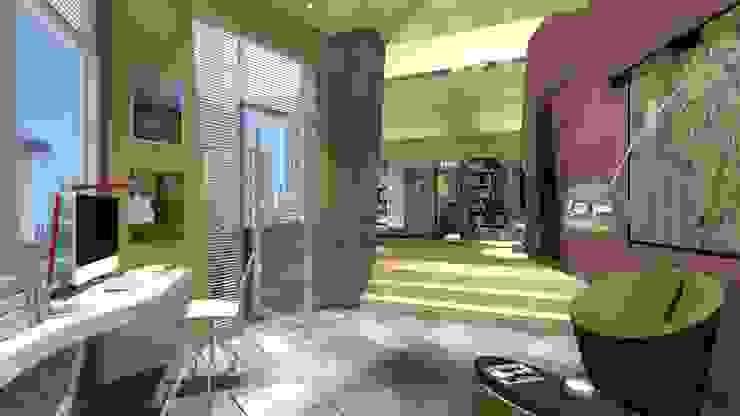 Спальня в стиле модерн от organic Arts+Architecture Модерн Бамбук Зеленый