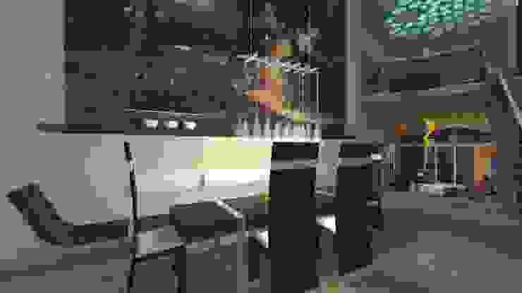 Столовая комната в стиле модерн от organic Arts+Architecture Модерн