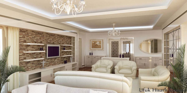 Modern living room by HİSARİ DESIGN STUDIO Modern