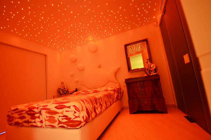 Mediterranean style bedroom by kmmarchitecture Mediterranean Wood-Plastic Composite