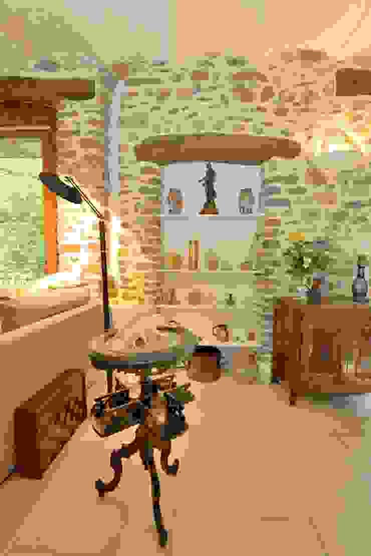 JOSE MARCOS ARCHITECTEUR ห้องทานข้าว ไม้จริง Beige