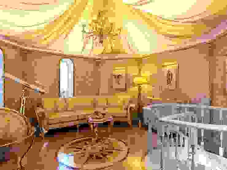 Golden house. Медиа комната в классическом стиле от Design studio of Stanislav Orekhov. ARCHITECTURE / INTERIOR DESIGN / VISUALIZATION. Классический