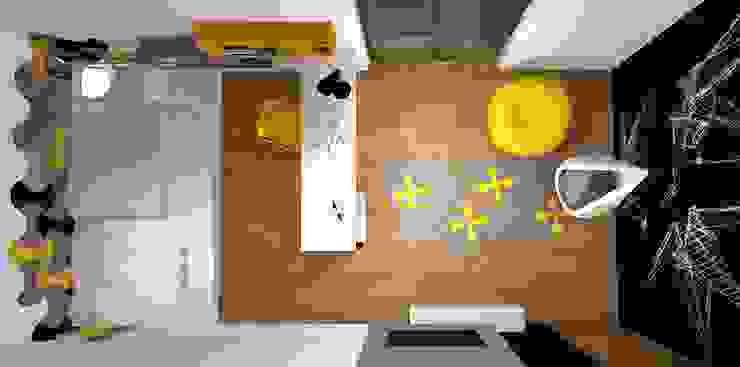 Modern Media Room by FLUFFO fabryka miękkich ścian Modern