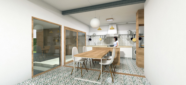 REMODELACIÓN ANNARATONE ELIZONDO Comedores de estilo moderno de ben arquitectos Moderno