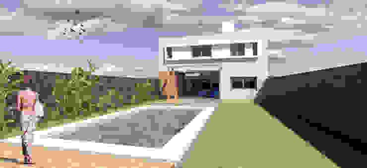 REMODELACIÓN ANNARATONE ELIZONDO Piscinas de estilo moderno de ben arquitectos Moderno