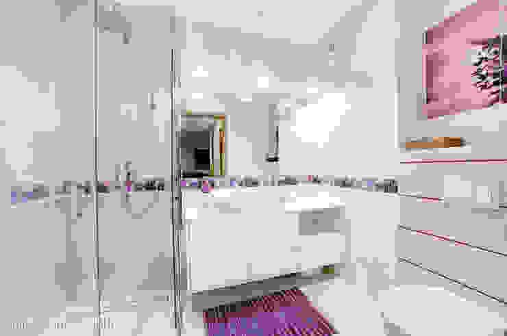 mieszkanie na Felinie Lublin Nowoczesna łazienka od Auraprojekt Nowoczesny