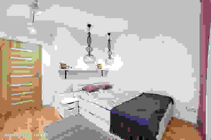 mieszkanie na Felinie Lublin Rustykalna sypialnia od Auraprojekt Rustykalny