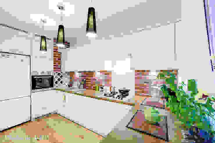 mieszkanie na Felinie Lublin Rustykalna kuchnia od Auraprojekt Rustykalny