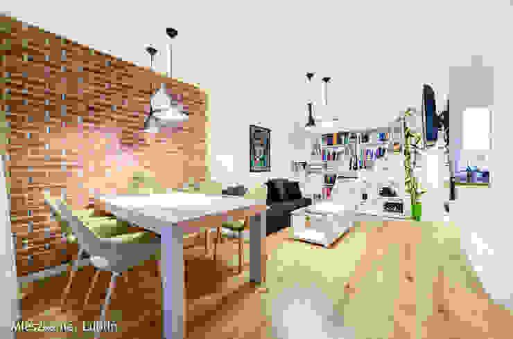 mieszkanie na Felinie Lublin Rustykalna jadalnia od Auraprojekt Rustykalny