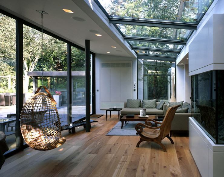 KSR Architects | Compton Avenue | Living room モダンデザインの リビング の KSR Architects モダン