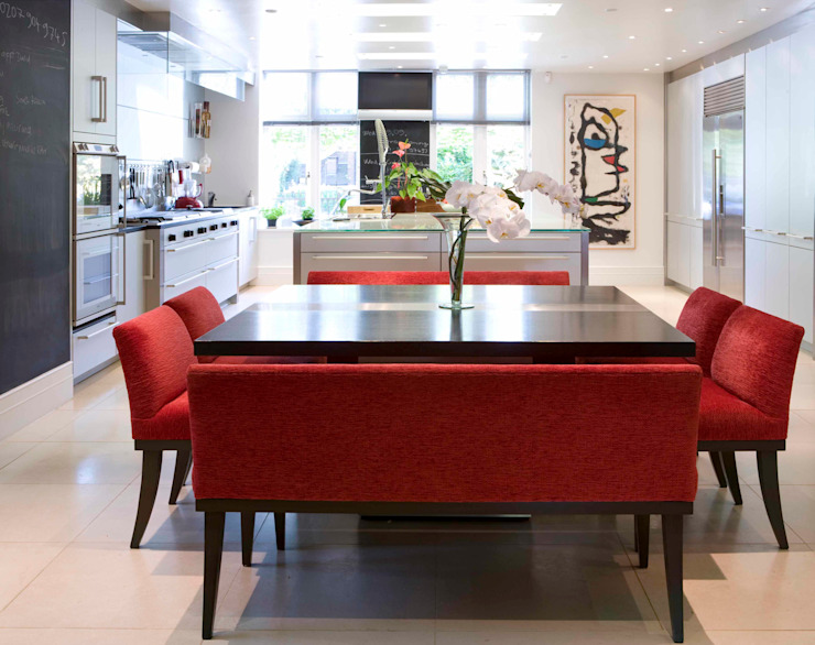 KSR Architects | Compton Avenue | Dining room Salas de jantar modernas por KSR Architects Moderno