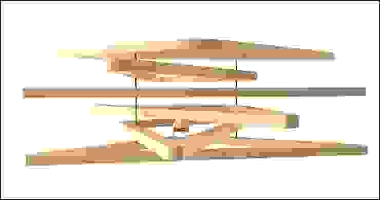 Triangulum lamp por Joana Magalhães Francisco Minimalista Madeira Acabamento em madeira