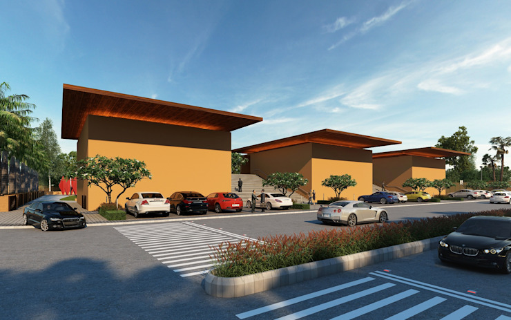 Vardhman Industrial Hub Modern houses by AAYAM Architects Modern