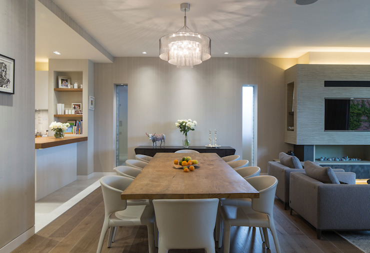 KSR Architects | Hampstead Village Home | Dining room KSR Architects Comedores de estilo moderno