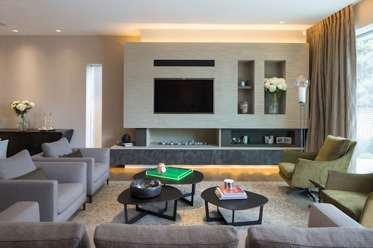 KSR Architects | Hampstead Village Home | Living room Modern living room by KSR Architects Modern