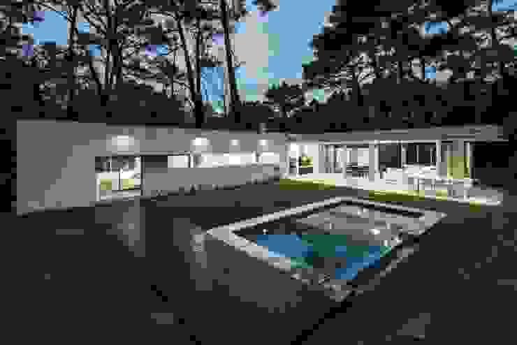 Casa Q2 Piletas modernas: Ideas, imágenes y decoración de Felipe Gonzalez Arzac Moderno