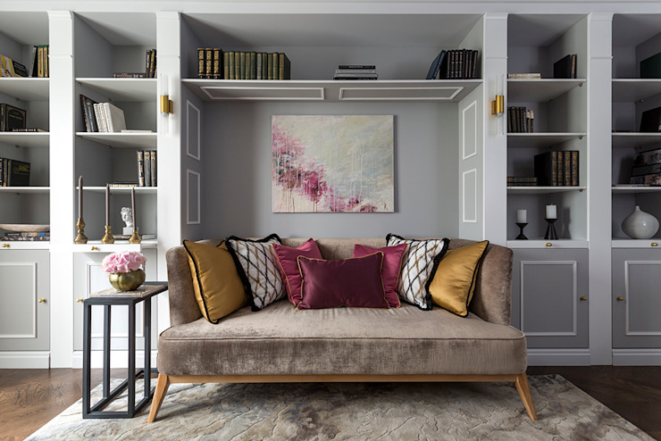 Eclectic style living room by Ekaterina Kozlova Eclectic
