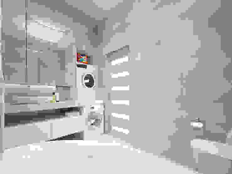 Белый интерьер Ванная комната в стиле минимализм от Tatiana Zaitseva Design Studio Минимализм