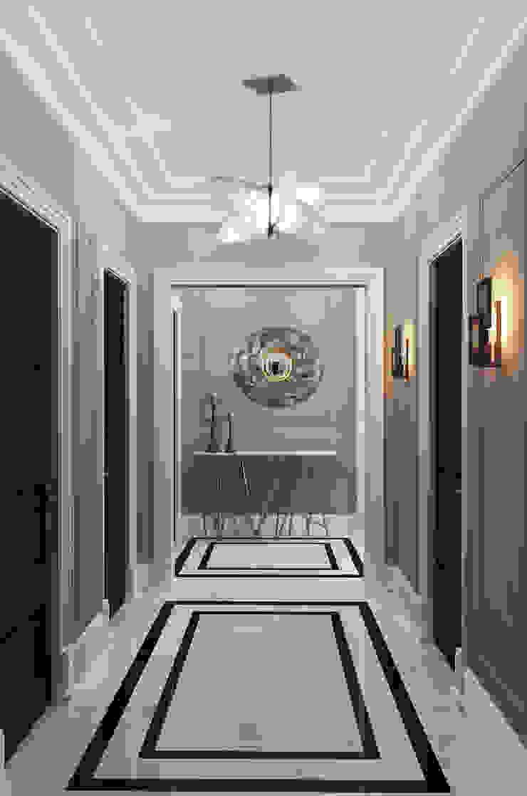 Eklektyczny korytarz, przedpokój i schody od Ekaterina Kozlova Eklektyczny Marmur
