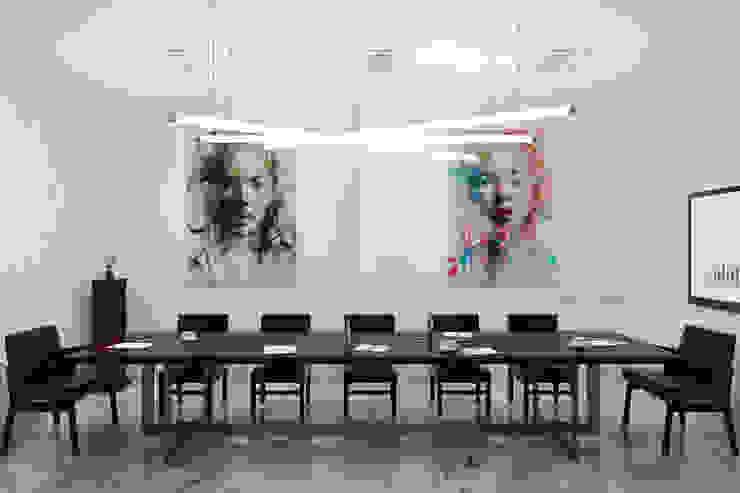 Concept Buro 24/7 Офисные помещения в стиле модерн от Ekaterina Kozlova Модерн Мрамор