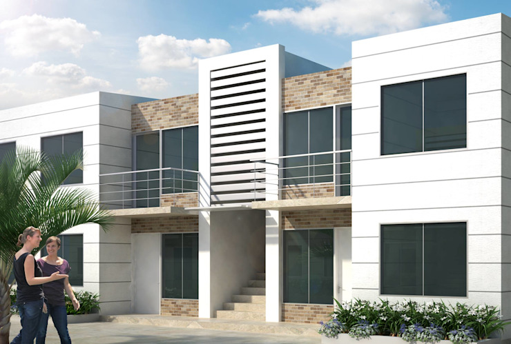 Casa Bifamiliar Casas de estilo clásico de OM ARQUITECTURA & SERVICIOS S.A.S Clásico