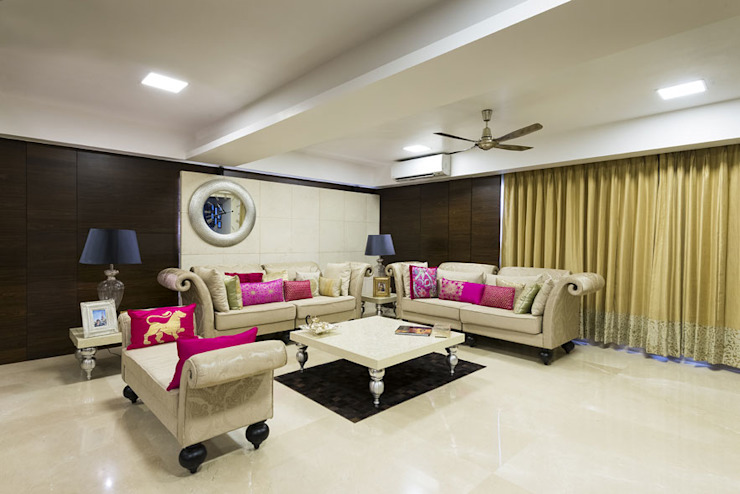 Agarwal Residence Modern living room by Spaces and Design Modern