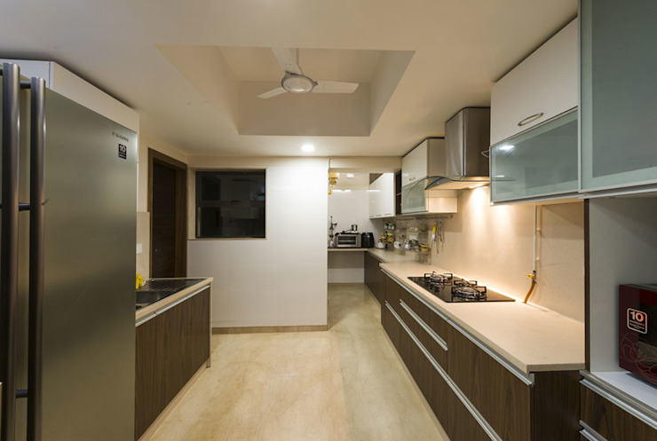 Agarwal Residence Modern kitchen by Spaces and Design Modern