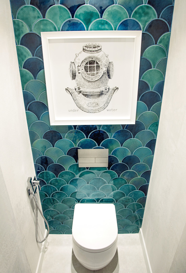 Eclectic style bathroom by Yucubedesign Eclectic