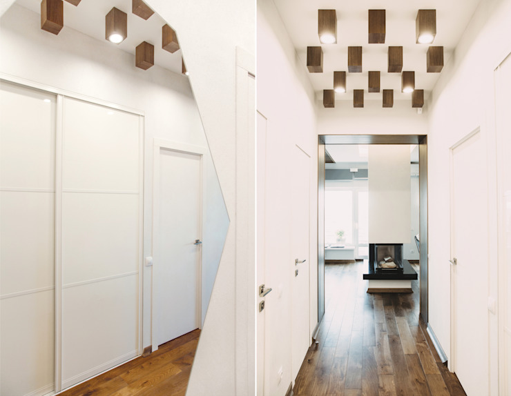 Eclectic style corridor, hallway & stairs by Yucubedesign Eclectic