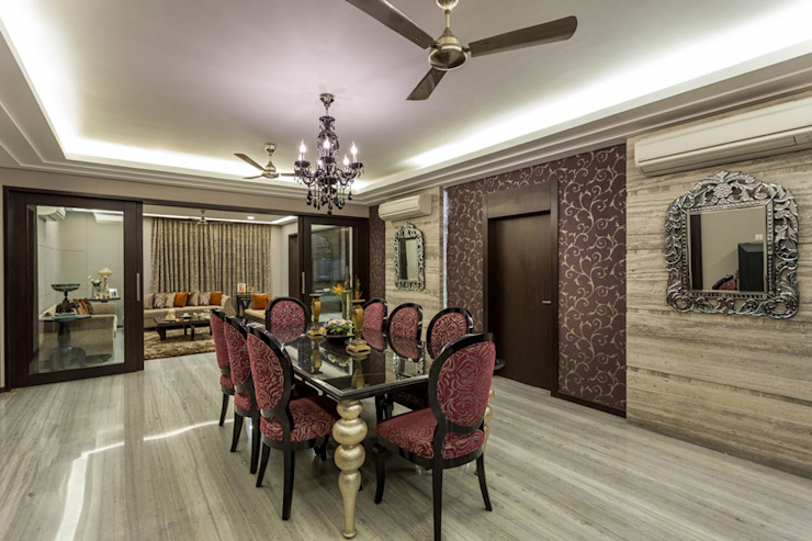 Kumar Residence Modern dining room by Spaces and Design Modern