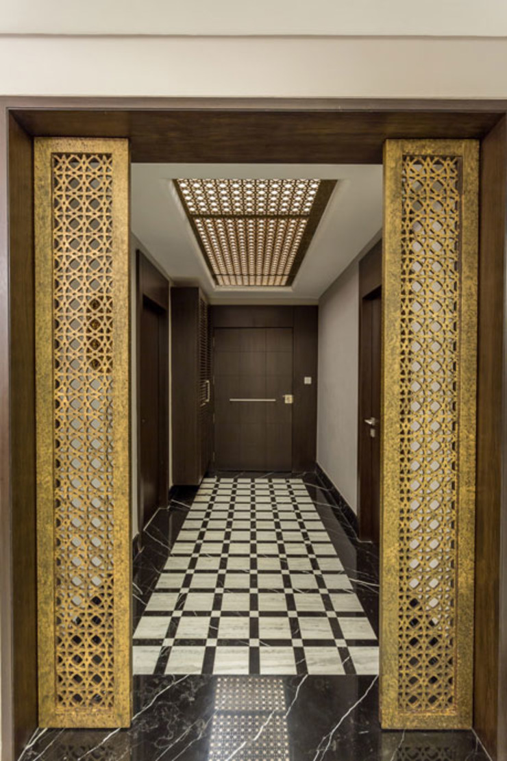 Kumar Residence Modern corridor, hallway & stairs by Spaces and Design Modern