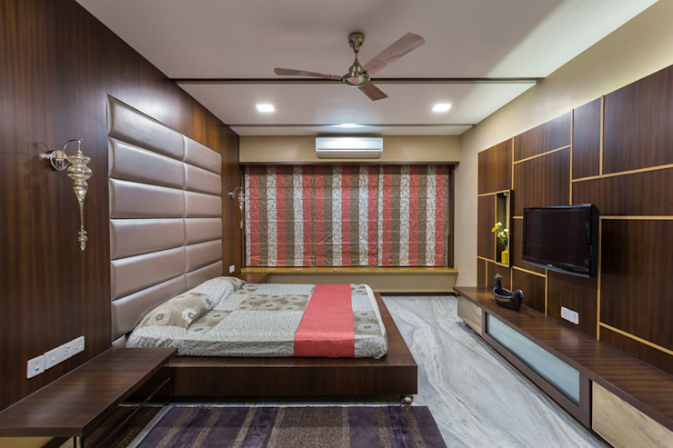 Kumar Residence Modern style bedroom by Spaces and Design Modern