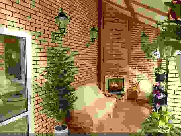 Country style conservatory by Цунёв_Дизайн. Студия интерьерных решений. Country