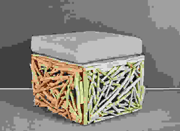 Hocker Durango von Luxolastyle Asiatisch Holz Holznachbildung