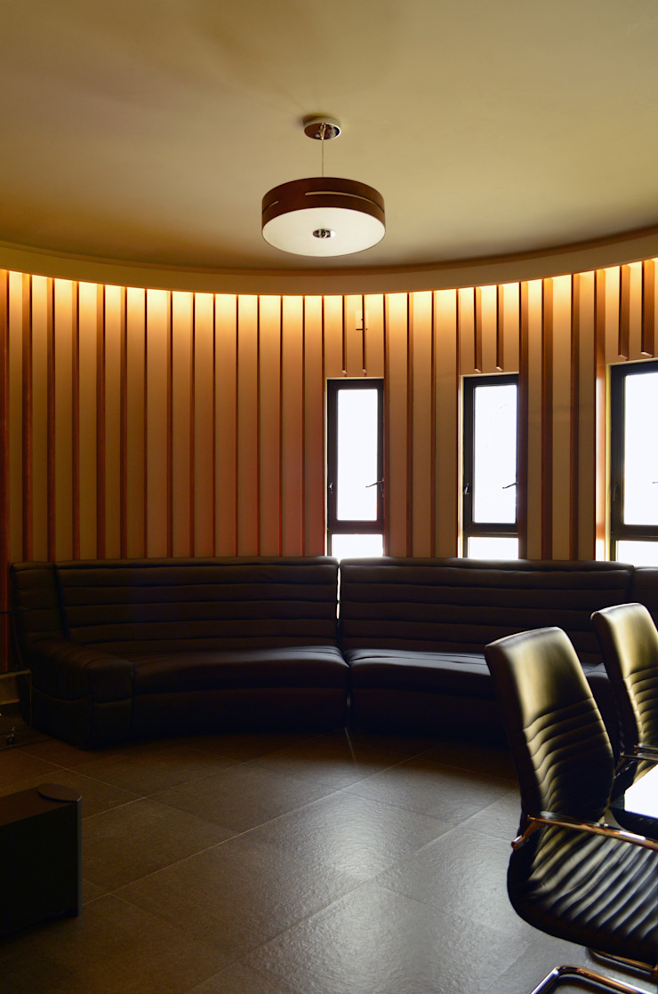 Wowa Modern Study Room and Home Office Wood Amber/Gold
