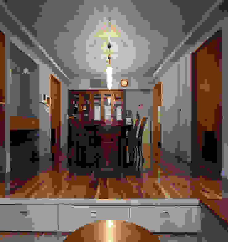 2+3の家 モダンデザインの ダイニング の 一級建築士事務所あとりえ モダン