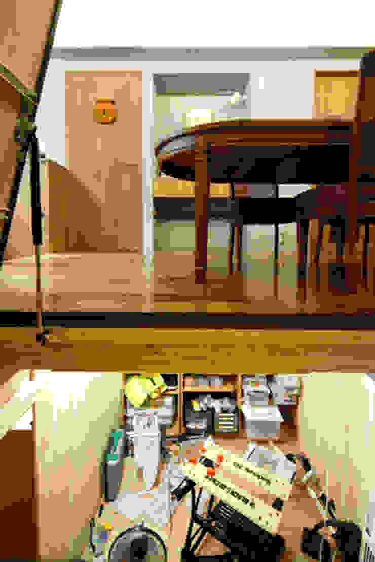2+3の家 モダンデザインの ガレージ・物置 の 一級建築士事務所あとりえ モダン