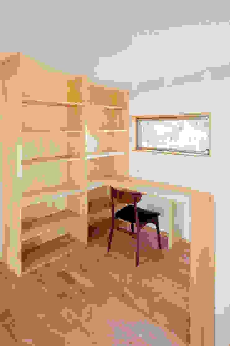 カフェライブラリーの家 モダンデザインの 書斎 の 一級建築士事務所あとりえ モダン