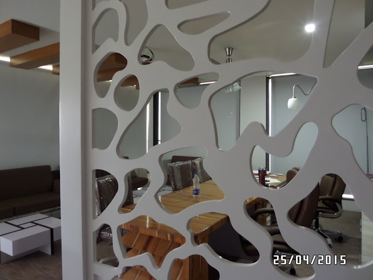 Office Interior: modern  by JNS Design,Modern Plastic