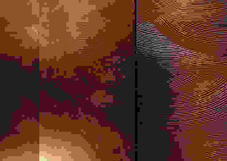 漆パネル アジア風レストラン の 中川デザイン事務所 和風